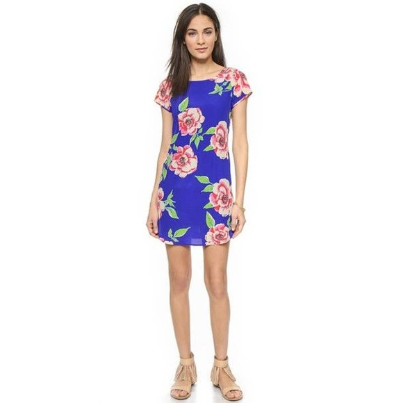 Yumi Kim Floral Elana Blue Shift Dress
